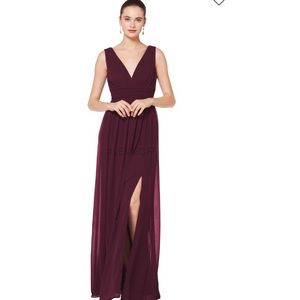 Bill Levkoff Chiffon Dress (style 7082)